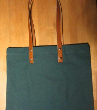 Quadratische Tasche mit Lederhenkel naehanleitung made-in-minga.de