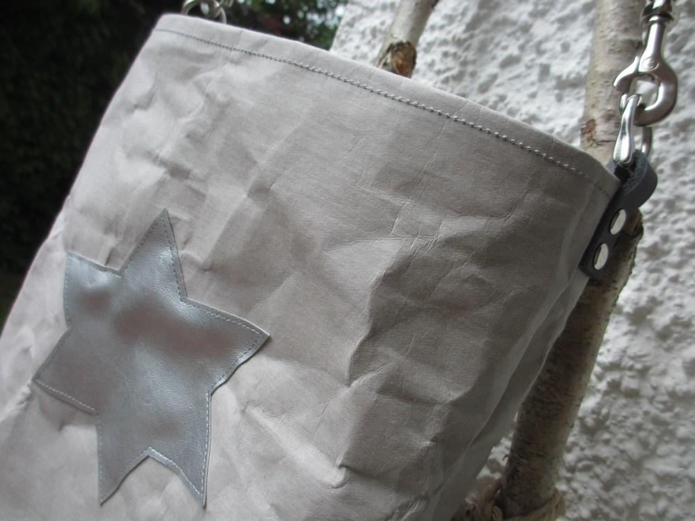 Snappap Tasche mit Stern aus Kunstleder