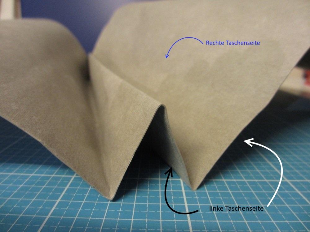 Die Origamiecken sind 4-5 cm tief.