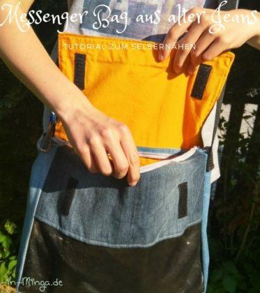 freebook - tutorial für messenger bag aus alter jeans