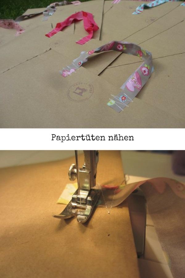 papiertüten selbst genäht, Anleitung
