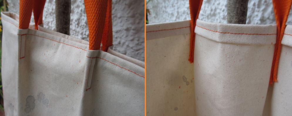 Gurtband nach innen falten und von außen festnähen