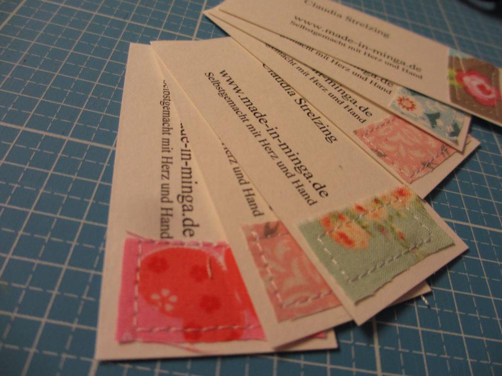 Visitenkarten für DIY Markt-Verkauf selber nähen.