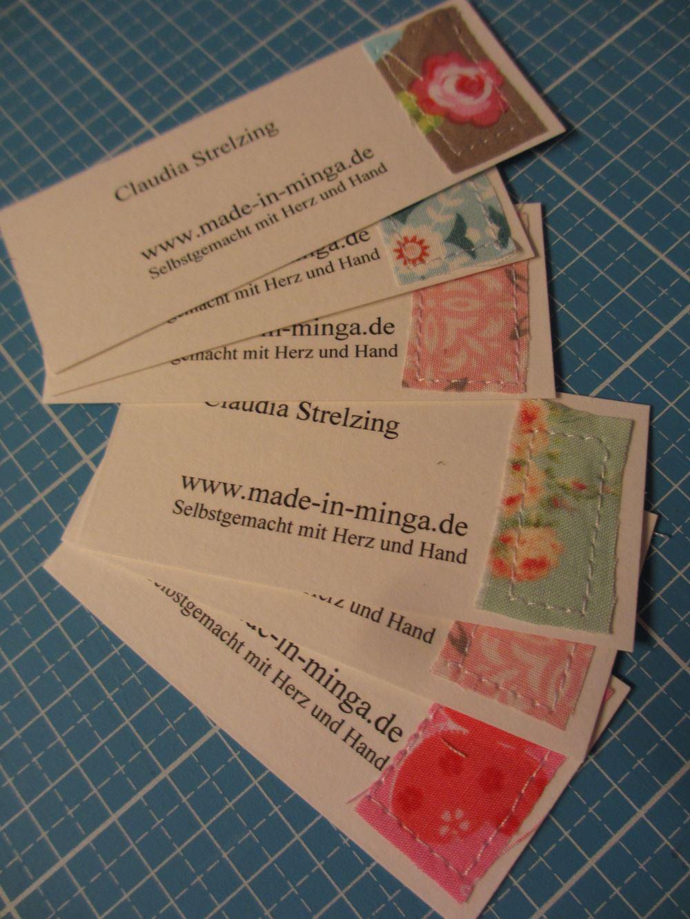 Visitenkarten für DIY Markt-Verkauf selber nähen