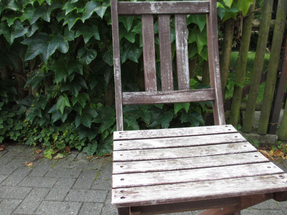 Der alte Stuhl vom Müllplatz - der ist zu schade zum wegwerfen!