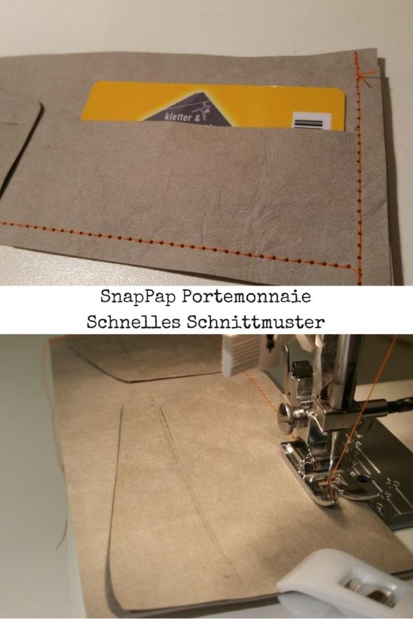 kleines portemonnaie aus snappap geldschein und kartenhalten. Black Bedroom Furniture Sets. Home Design Ideas
