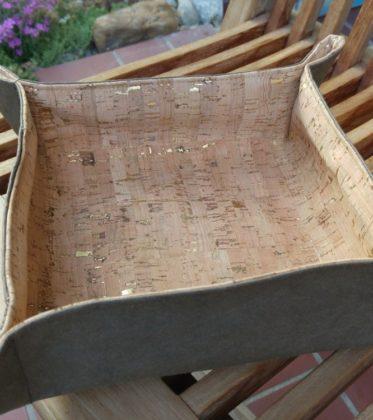 Zipfelkörbchen aus Kork und Snappap