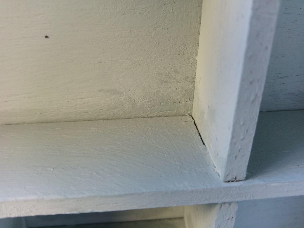 Sauber vollgetupft - das Wachs deckt jetzt gut alle Stellen ab.