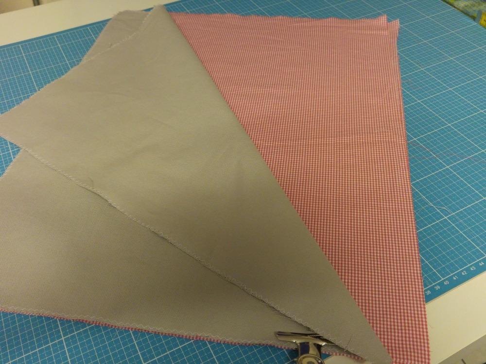Zugeschnittene Teile in 41 x 51 cm für Außenbeutel und Futter
