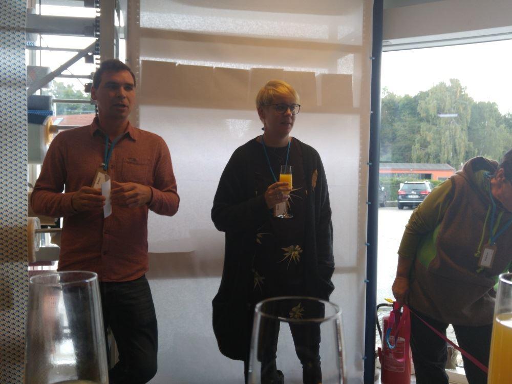 Simon, Mr. Snaply, mit Isah und, leider grade aus dem Bild gebeugt, seiner Mama.