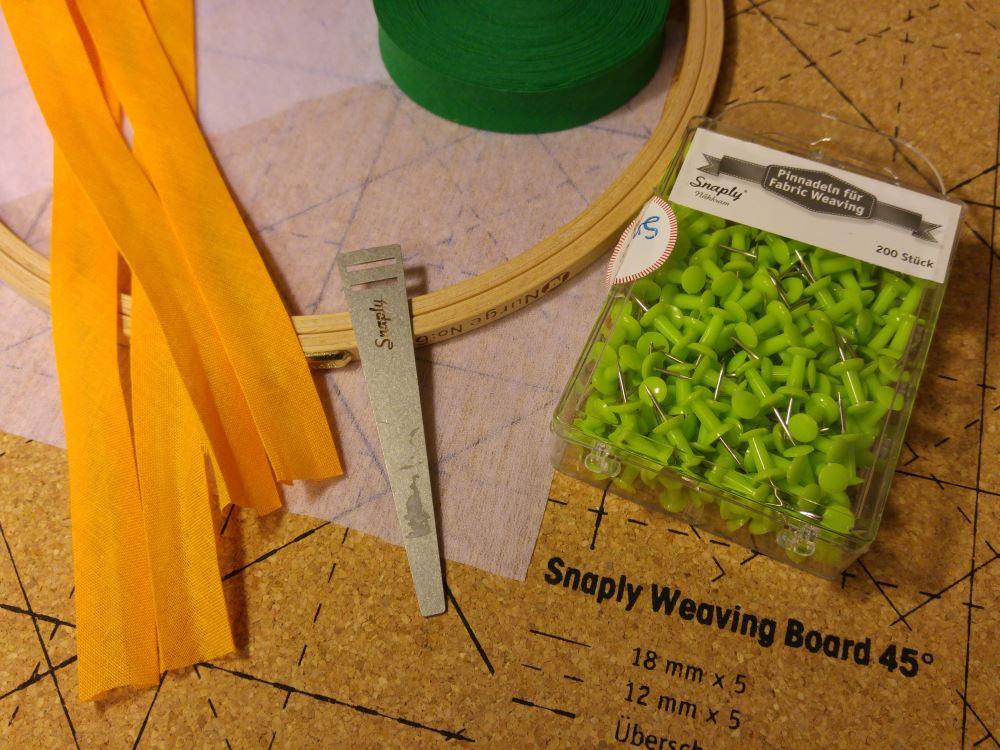 Alles, was man für das Fabric Wweaving von Snaply braucht