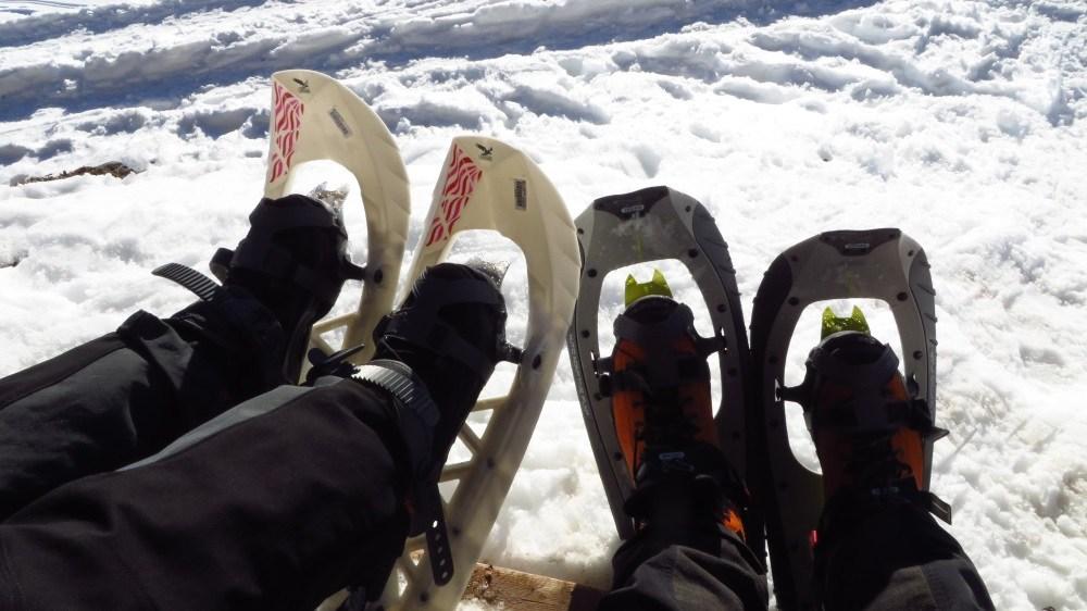 Schneeschuhe im Einsatz