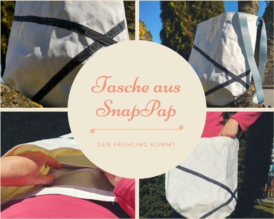 Anleitung um eine Tasche zu nähen aus Snappap