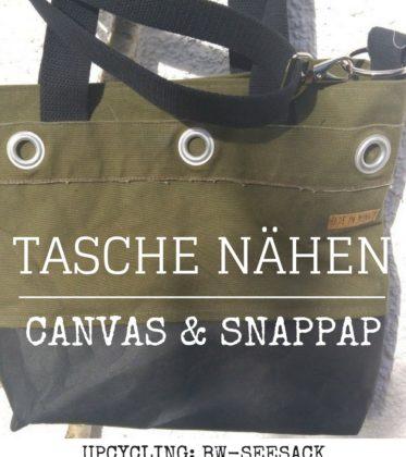 Tasche nähen aus Snappap und Canvas vom alten Bundeswehr-Seesack