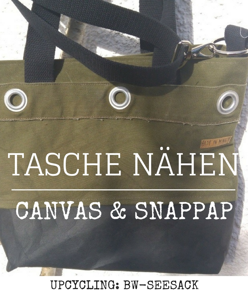 tasche aus bundeswehr seesack mit snappap. Black Bedroom Furniture Sets. Home Design Ideas