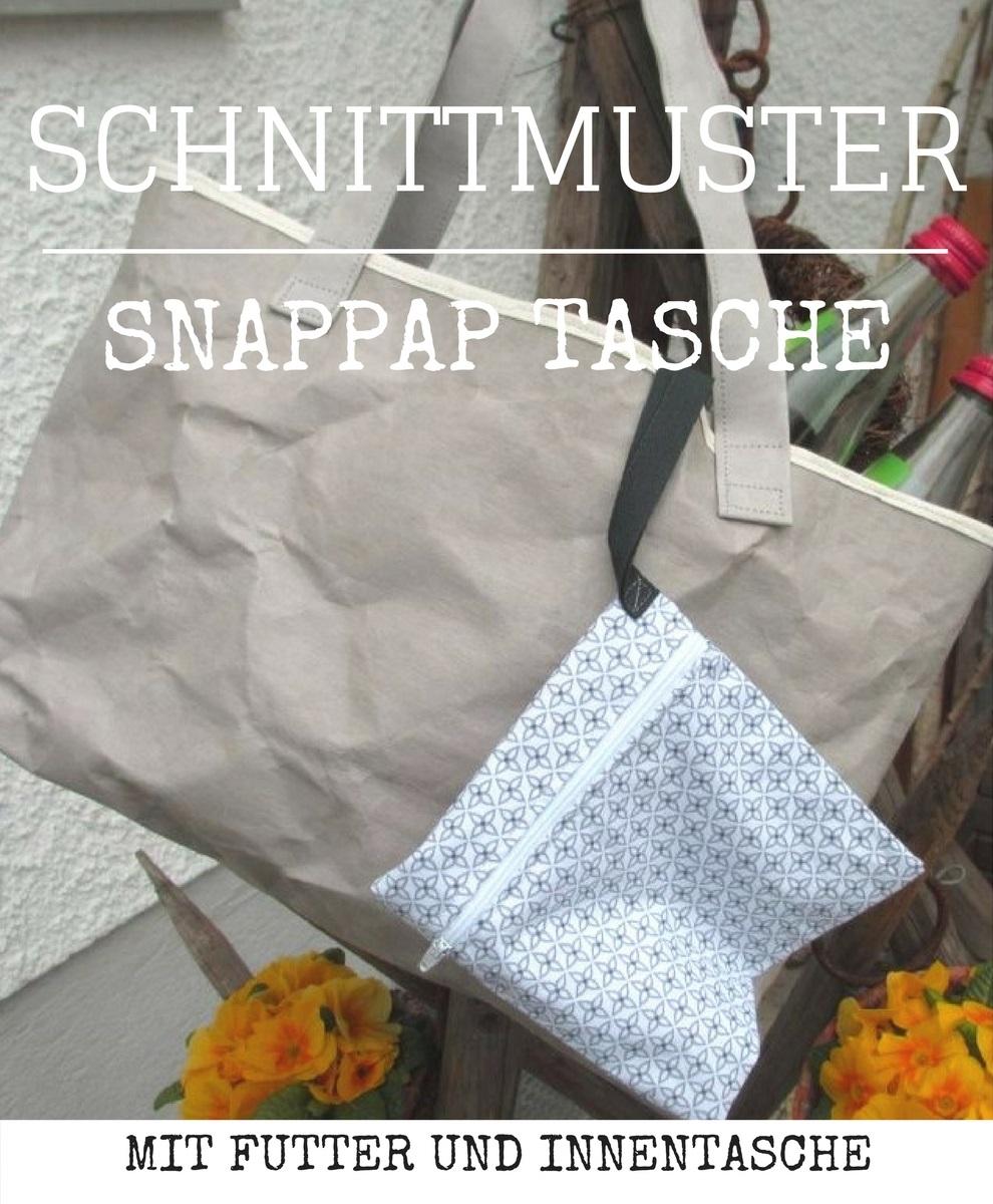 Grosse Tasche aus Snappap nähen. Nähanleitung