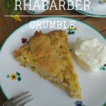 Rhabarber Streuselkuchen-crumble selber backen