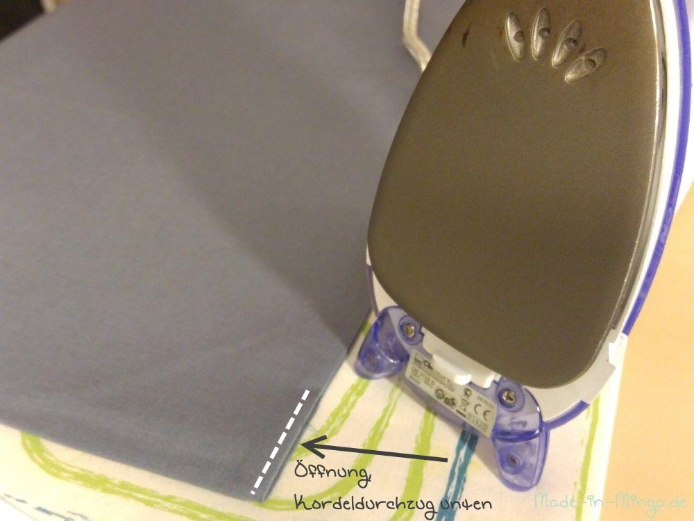 Seitennähte ordentlich ausformen und Bügeln