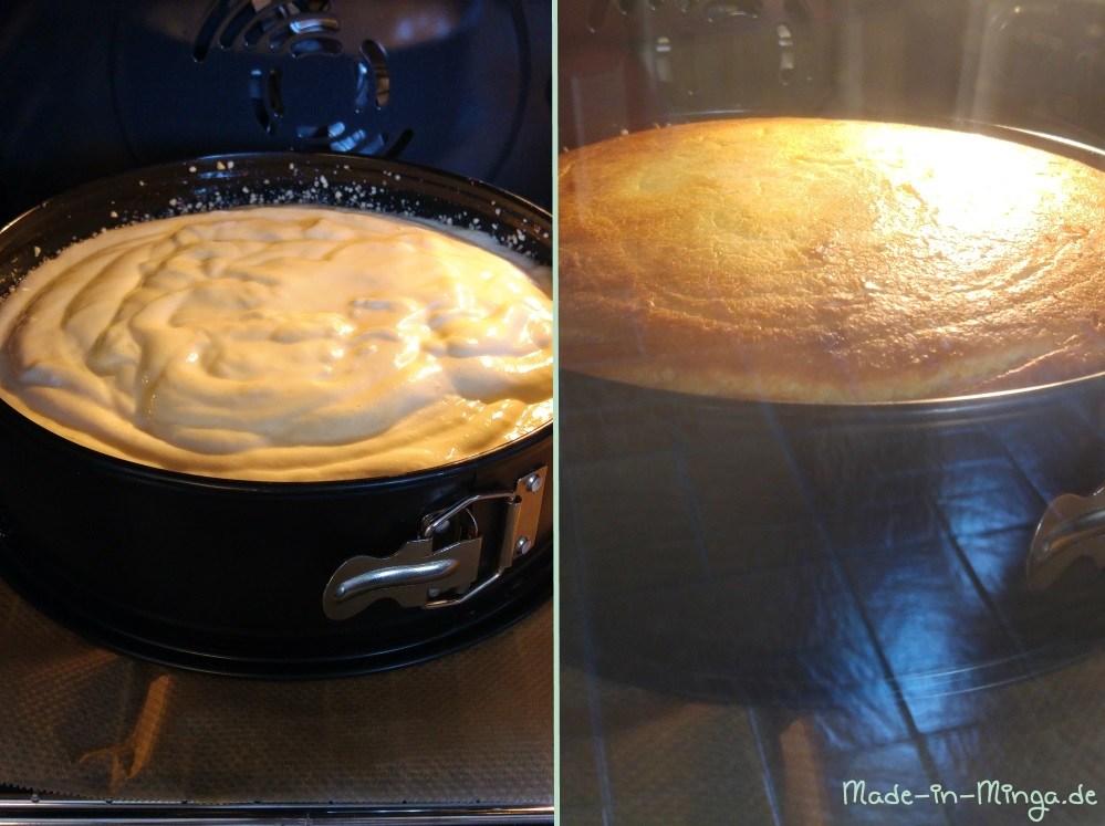 Kuchen geht im Ofen langsam auf