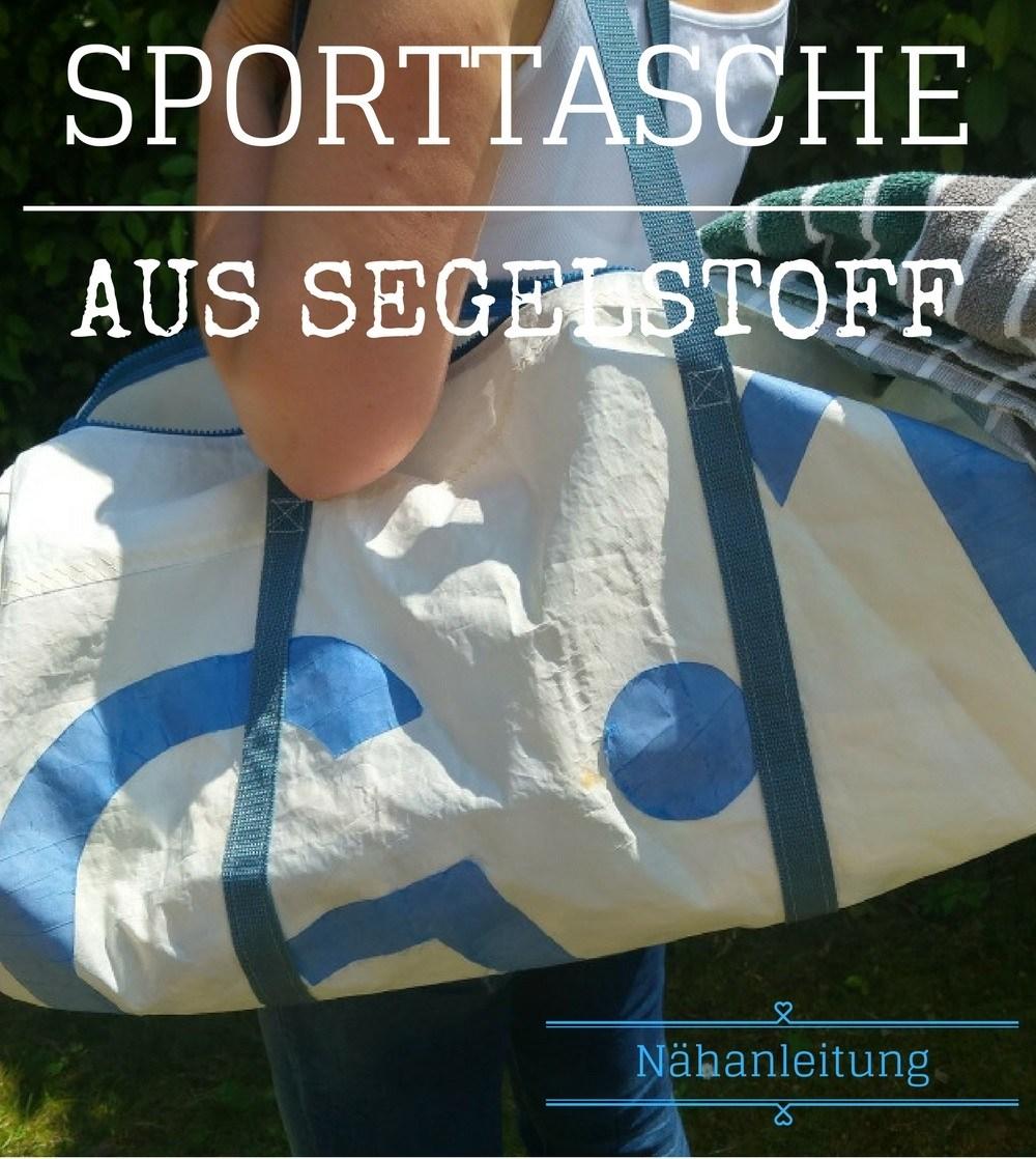altes Segel wird zur Sporttasche genäht