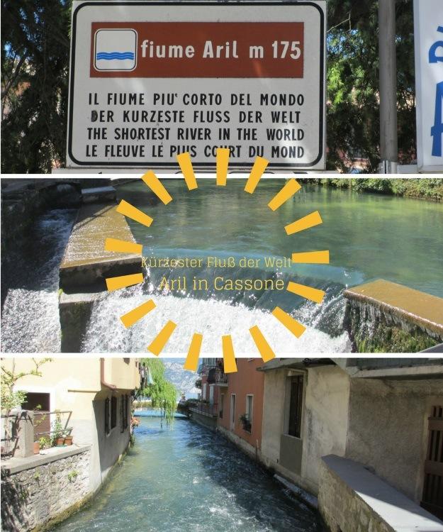 Der kürzeste Fluß der Welt in Cassone