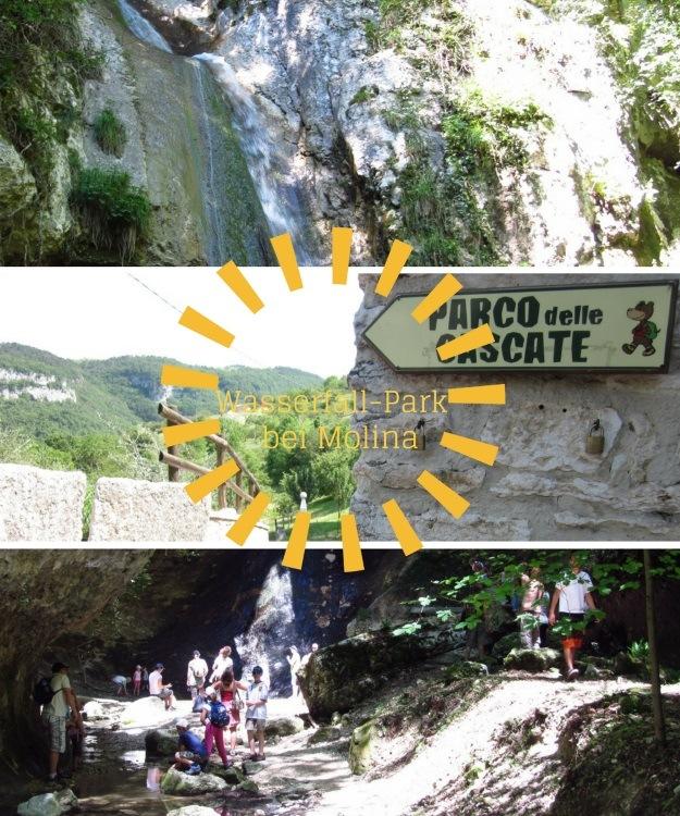 Ein großer Park mit Wasserfällen und Wasserspielplatz bei Molina