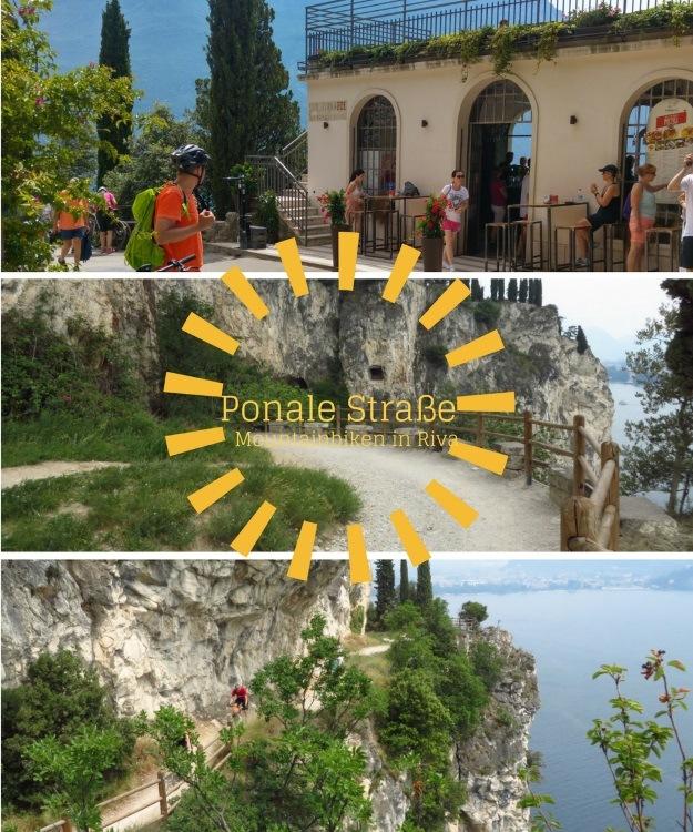 Hinter Riva beginnt die Ponale Strasse mit tollem Ausblick auf den Gardasee