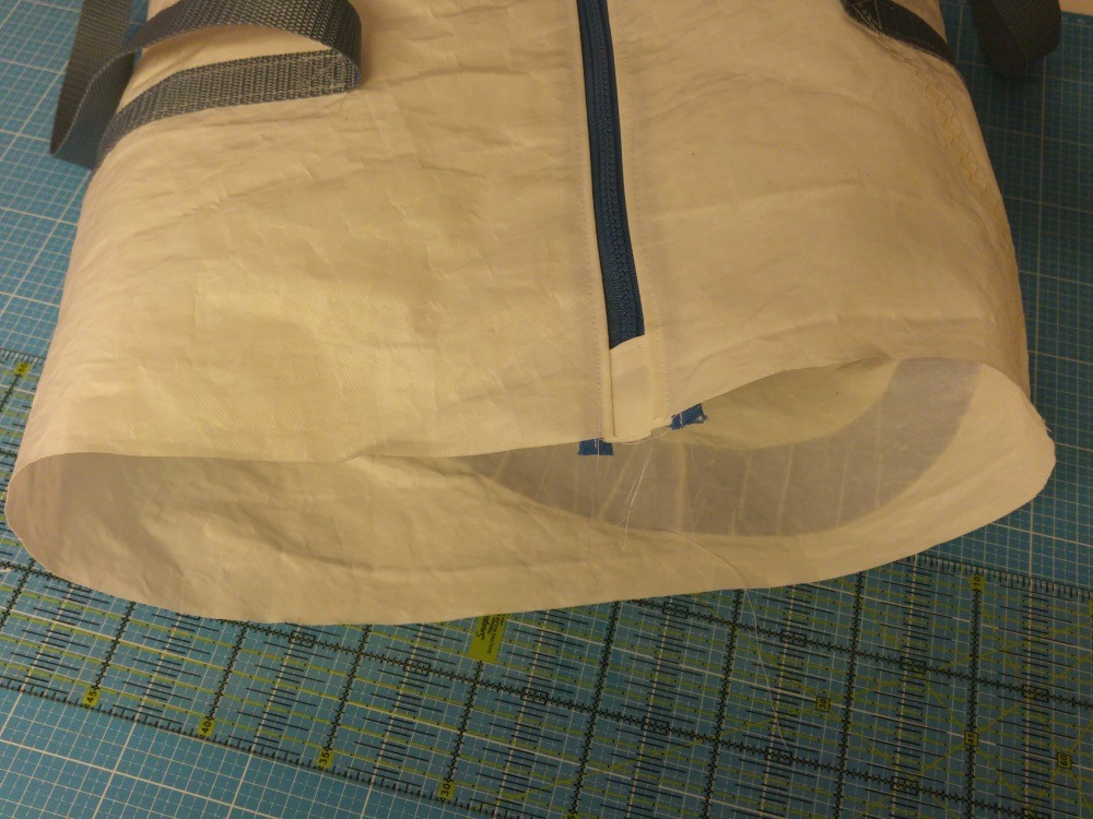 Fast fertige Tasche - es fehlen noch die Seitenteile