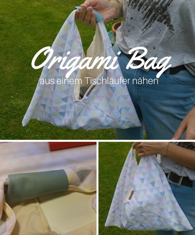 Origami Bag, eine schnell genähte Tasche
