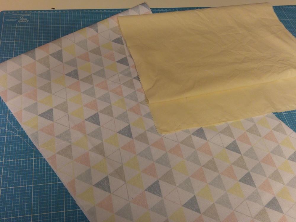 Stoff vorbereiten für Origami Bag
