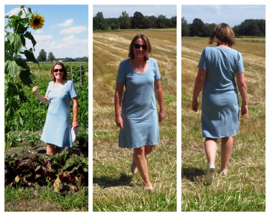 Jersey Kleid Basic Kleid nähen