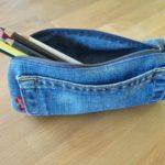 Schlampermäppchen aus Jeans nähen