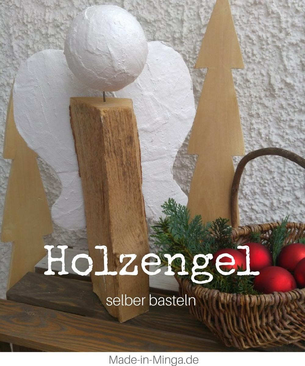 Weihnachts Engel Aus Holz Und Gips
