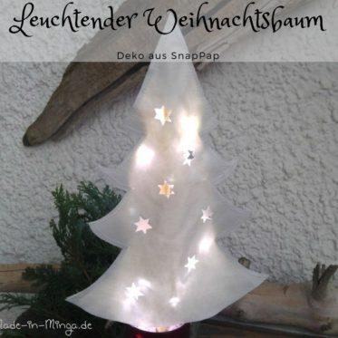 Weihnachtsbaum aus Snappap basteln