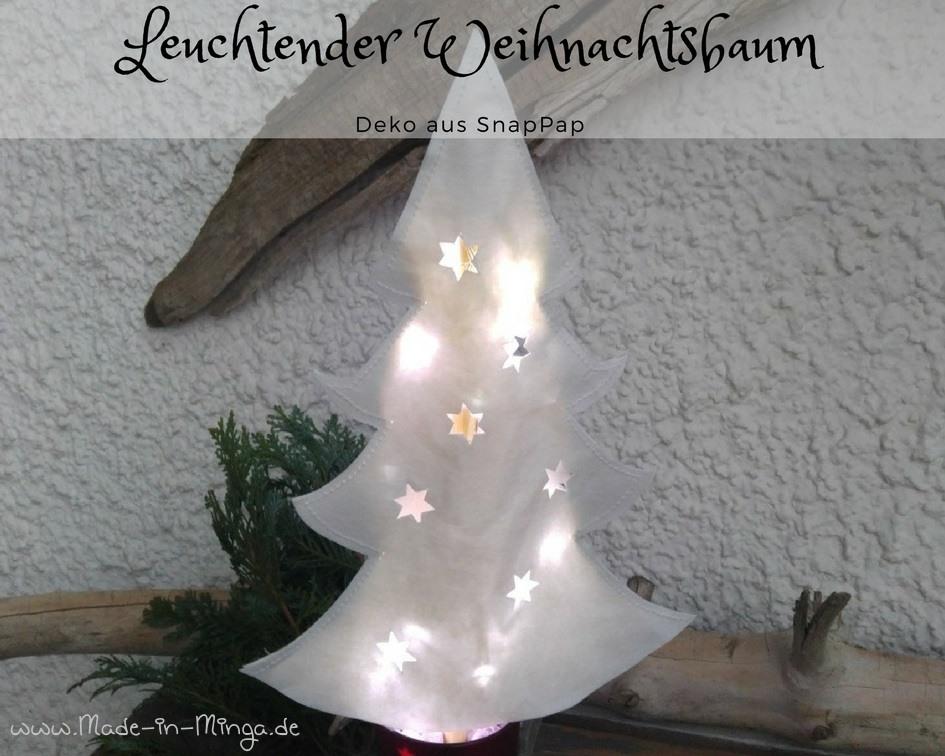 weihnachtsbaum aus snappap mit lichterkette basteln. Black Bedroom Furniture Sets. Home Design Ideas