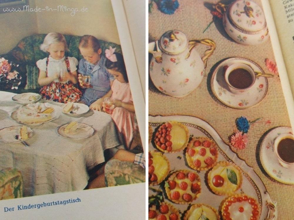 Bilder aus dem Kochbuch, wie eine Kaffeetafel aussehen sollte