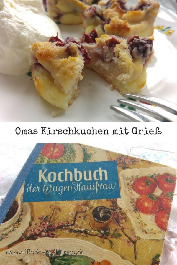 Kirsch-Griesskuchen nach einem Rezept aus Omas Zeiten