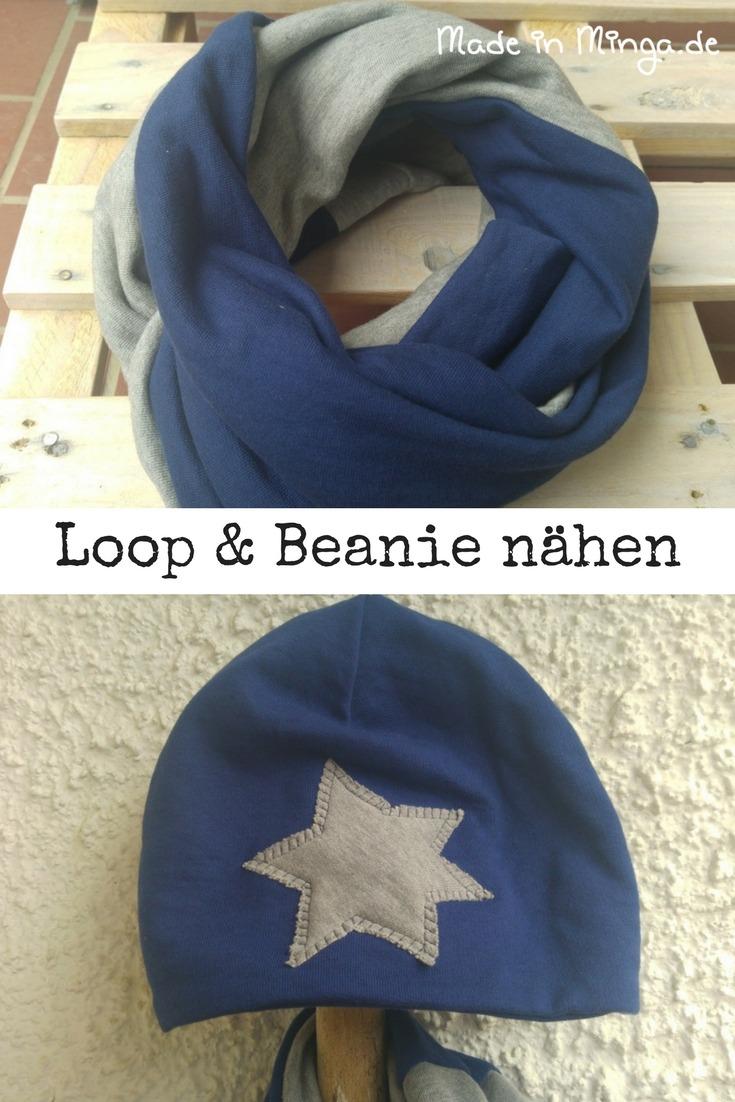 Loop und Beanie selbst genäht.