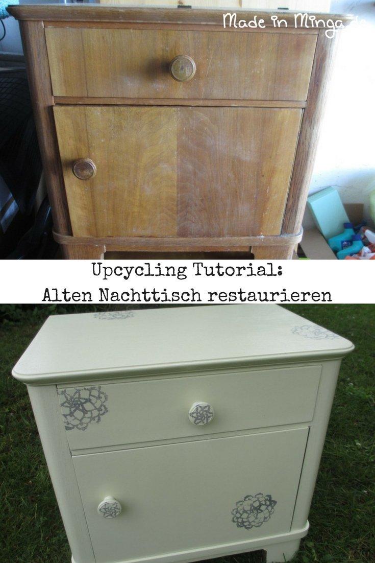Omas Alten Nachttisch Restaurieren Upcycling Eines Kleinmöbels