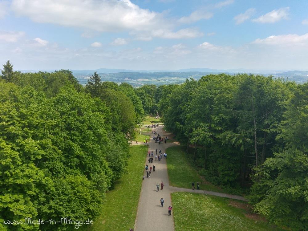 Kurzer Weg vom Parkplatz zum Hermannsdenkmal