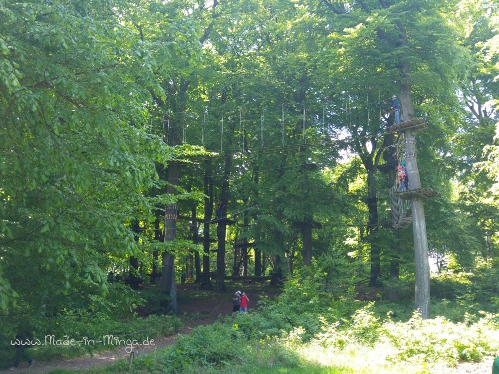 Kletterpark am Weg zum Hermannsdenkmal