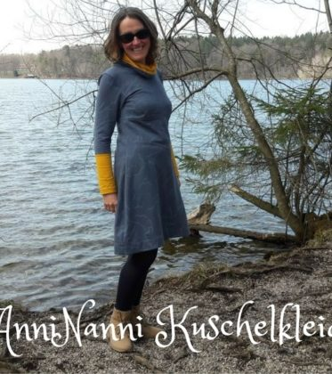 AnniNanni kuschelkleid aus Winterdreams von Lillestoff