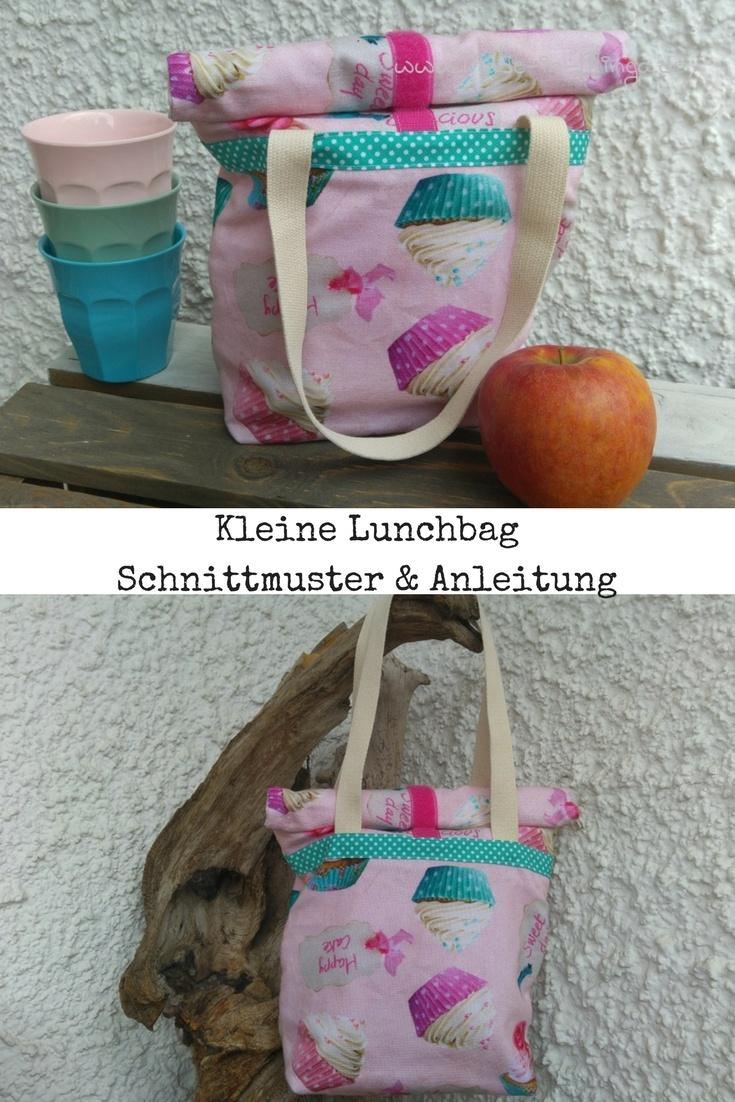 gratis Nähanleitung für eine Lunchbag mit Henkel.