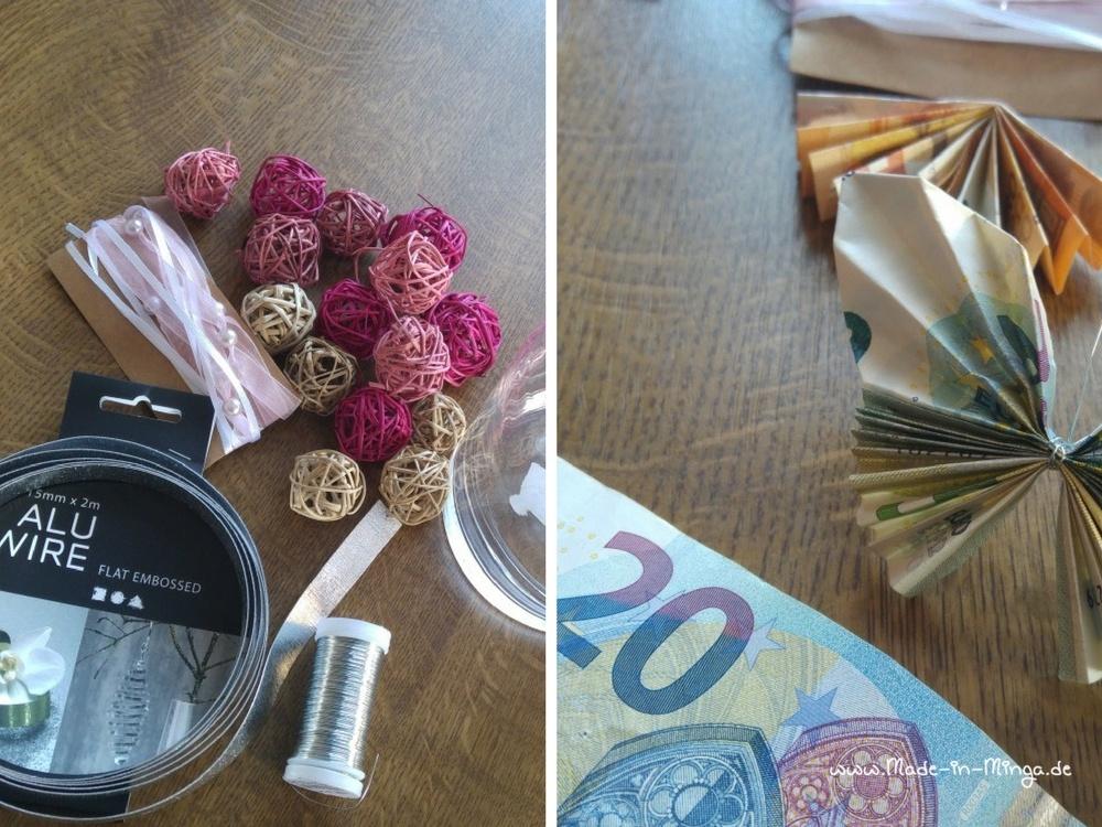 Geldschein falten und dekorieren