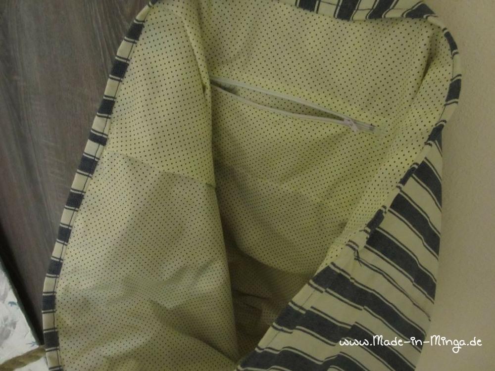 Fertige Reißverschlussinnentasche