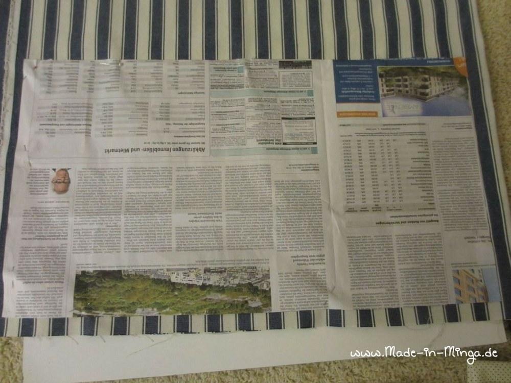 Schnittmuster auf Zeitungspapier übertragen