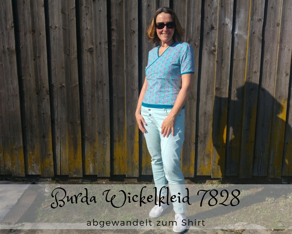 Burda Kleid in Wickeloptik als Shirt
