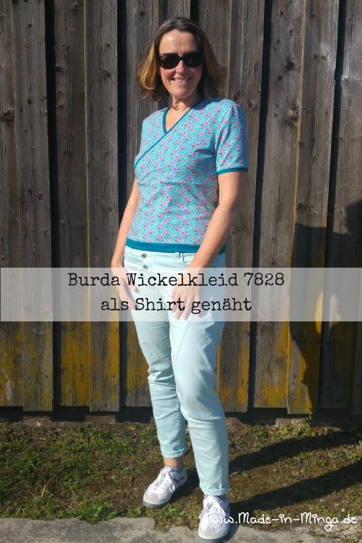 Burda 7828, ein Schnitt für ein Wickelkleid, abgewandelt zum Shirt