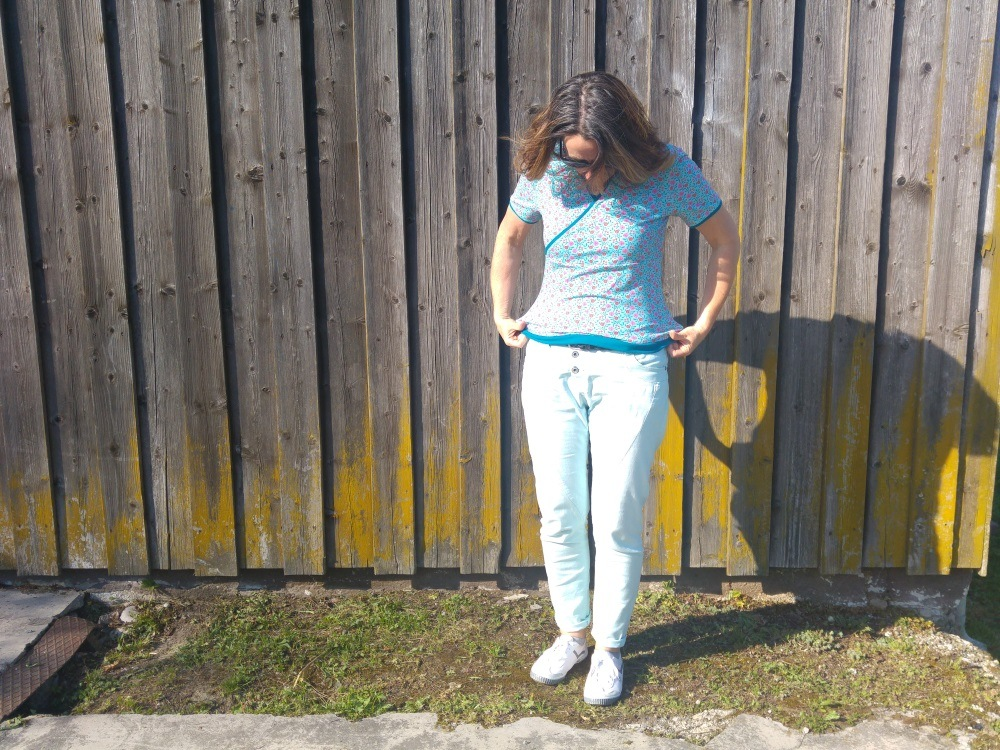 Schnell genähtes Shirt in Wickeloptik