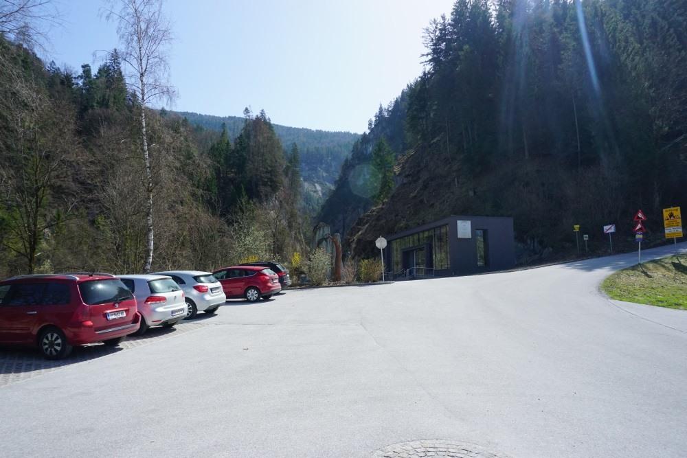 Wanderparkplatz am Eingang der Kundler Klamm